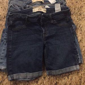 Hollister Low Rise Boy shorts size 0